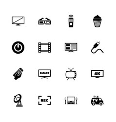 tv - flat icons vector image