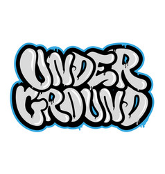 Under ground vector
