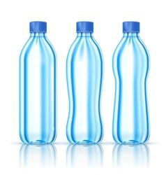 Water bottles on white vector