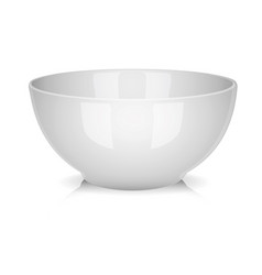 white porcelain bowl isolated vector image