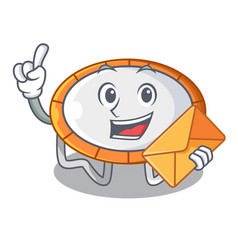 with envelope trampoline character room on place vector image