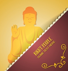 With people and buddha vector
