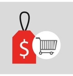 buying cart sale money design vector image vector image