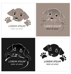 Cartoon cute outline dog vector