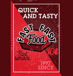 color vintage fast food banner vector image