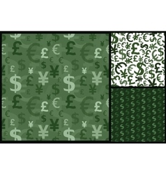 currency business pattern vector image vector image