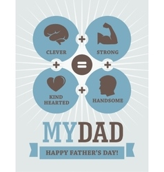 Fathers Day creative design vector image vector image