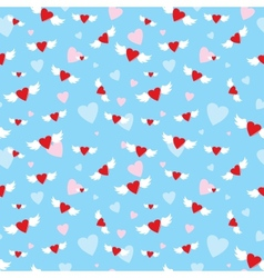 Seamless with hearts vector image vector image