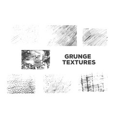set of grunge texture for decoration vector image vector image