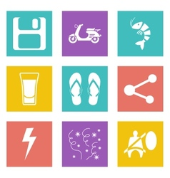 Color icons for Web Design set 27 vector image vector image