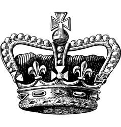 Crown Engraving vector image vector image