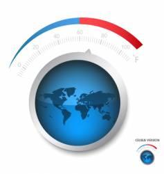 earth temperature vector image vector image