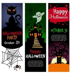 Halloween vertical banners vector image vector image