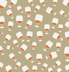 Vintage pattern wineglasses with red wine vector