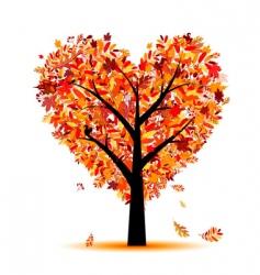 Heart shape tree vector
