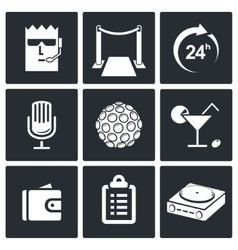 Night Club Icons set vector image