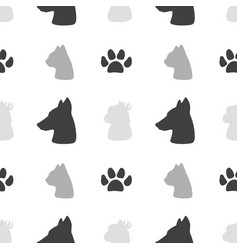 pet food seamless pattern vector image vector image