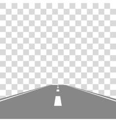 Straight Road on transparent vector image vector image