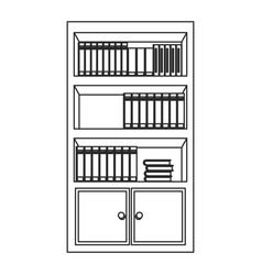 bookshelf literature study image outline vector image vector image