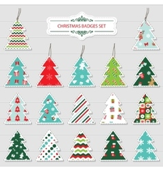 Christmas and new year labels and stickers vector image vector image