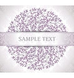 Elegant wedding invitation card with summer vector image vector image
