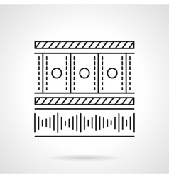 Flat line media player icon vector image vector image