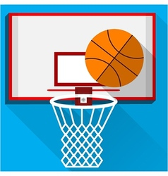 Flat of play basketball vector