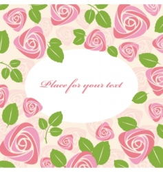 greeting floral roses card vector image