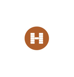 h brick logo design vector image vector image