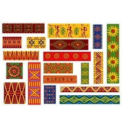 African ethnic ornaments and national patterns vector