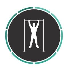 athlete computer symbol vector image