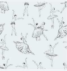 Ballet dancers pattern vector
