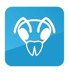 Bee icon animal head symbol vector