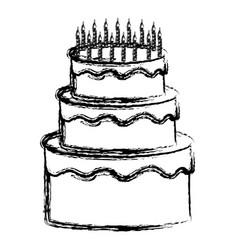 Birthday cake design vector