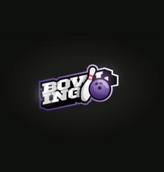 bowling mascot modern professional sport vector image