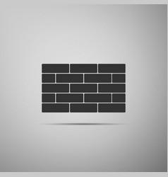 bricks icon isolated on grey background vector image