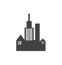 buiilding dark black logo vector image