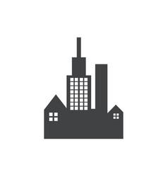 building dark black logo vector image
