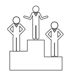 businessmen on podium icon vector image