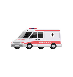 cartoon ambulance car isolated on white background vector image