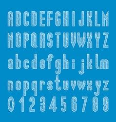 Chalk sketched font design alphabet and number vector