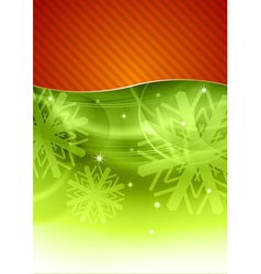 Christmas background in the red and green vector