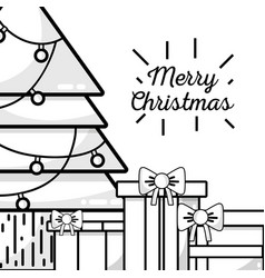 Christmas celebration in december with decoration vector