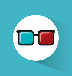 Cinema 3d glasses accessory movie icon vector