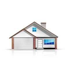 Clean and glossy detailed house icon vector
