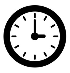 Clock icon simple style vector