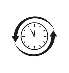 clock refresh icon vector image