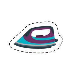 Clothes iron isolated icon vector