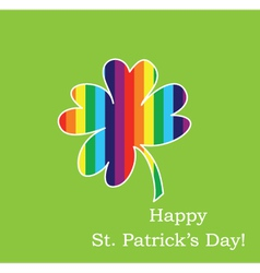 clover-and-rainbow vector image