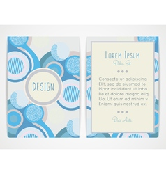 Cover design with abstract geometric pattern vector image